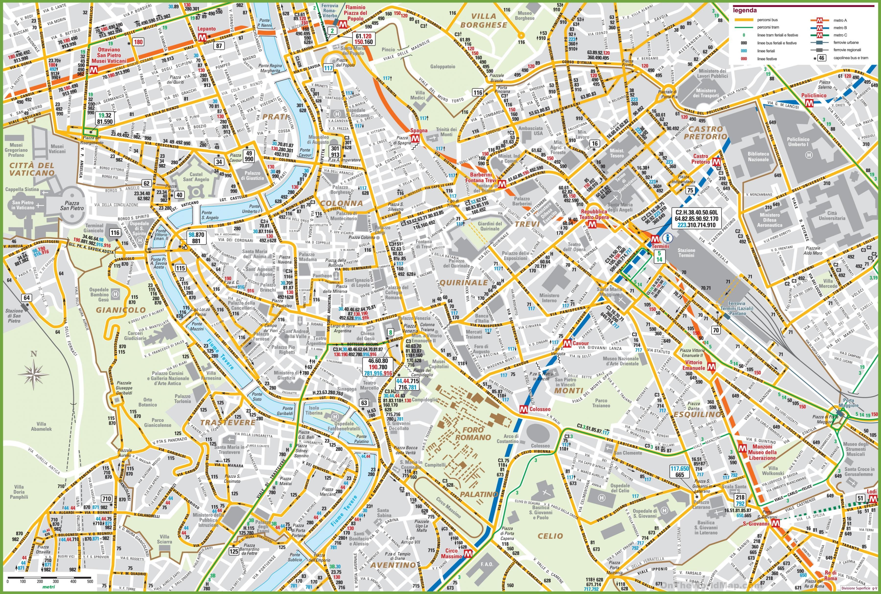 Roma Centro Cartina.Il Centro Di Roma Mappa Roma Centro Mappa Lazio Italia