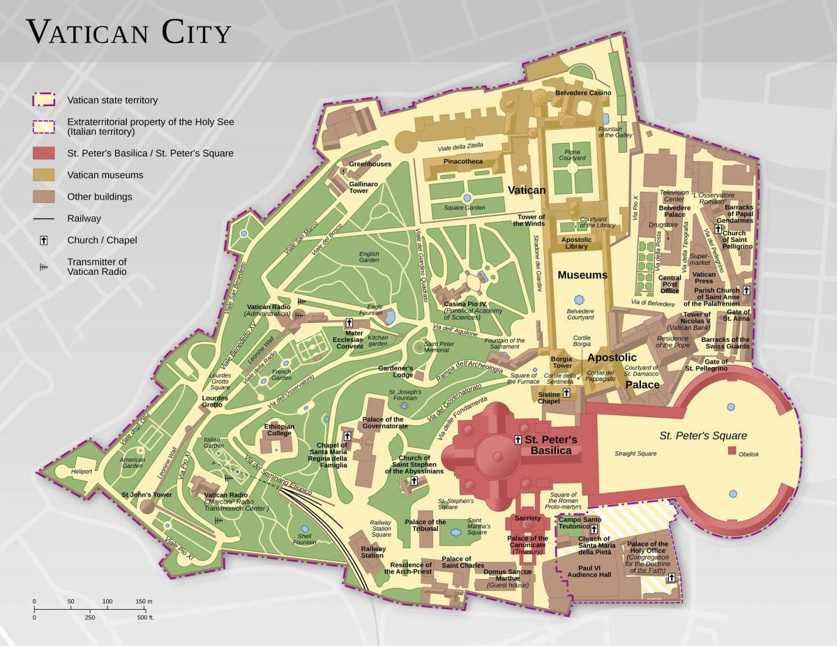 Cartina Michelin Roma.Piantina Della Citta Del Vaticano