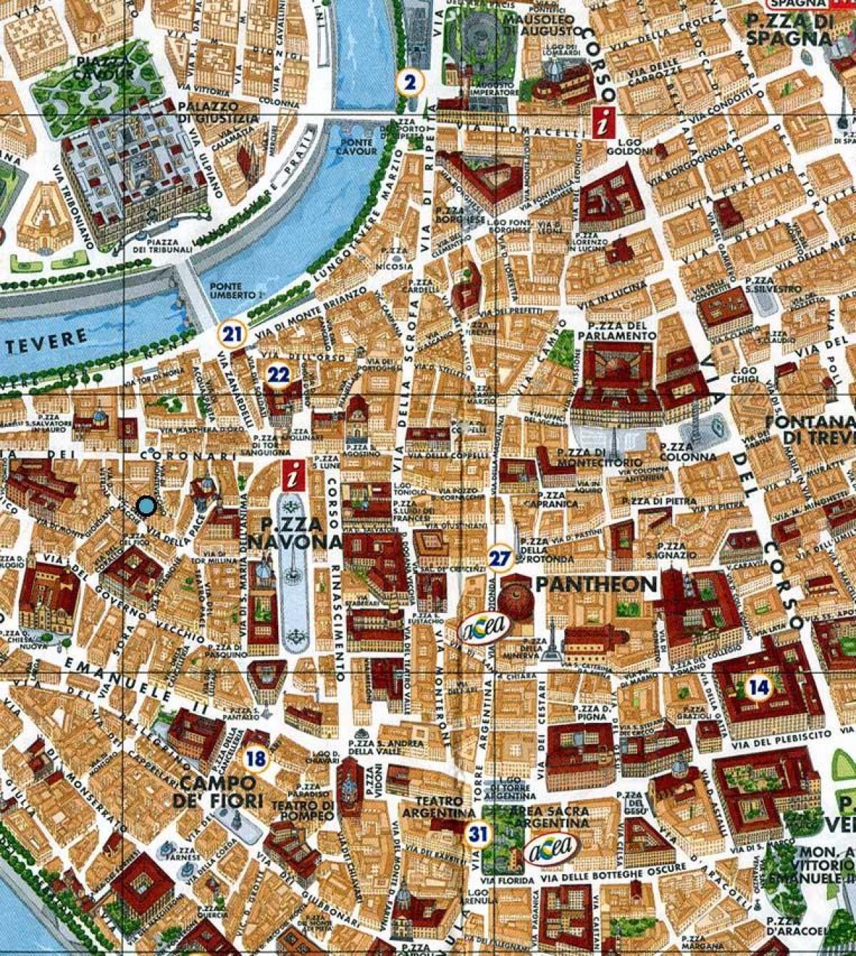 Cartina Roma Piazza Navona.Piazza Navona Roma Mappa Mappa Di Roma Piazza Navona Lazio Italia