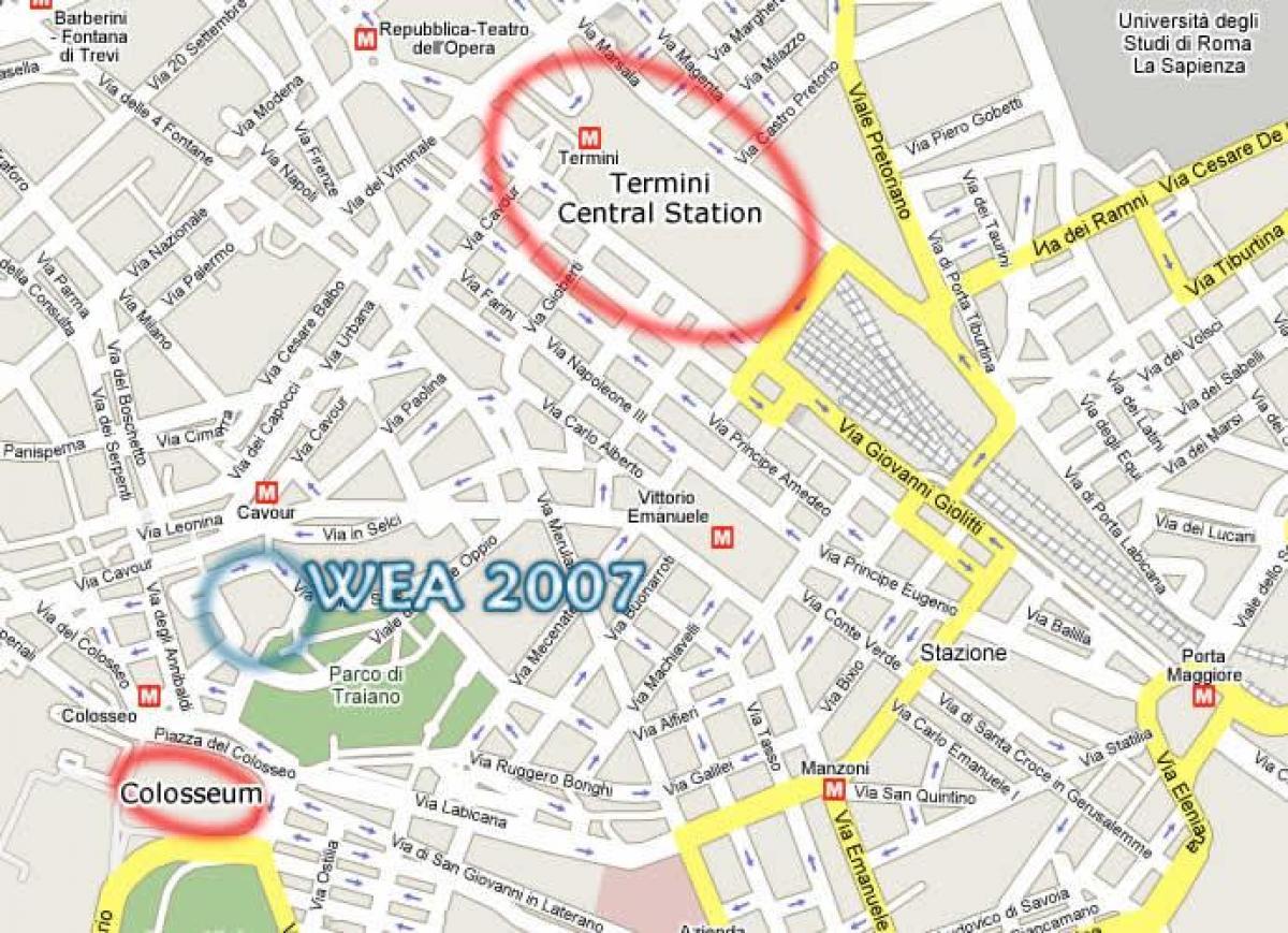Cartina Stazioni Ferroviarie Roma.Roma Tiburtina Mappa
