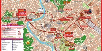 Roma city sightseeing bus route map