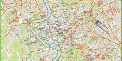 Roma Mappa Mappe Di Roma Lazio Italia